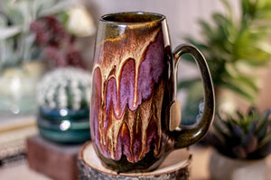 38-E Molten Beauty Notched Crystal Mug, 17 oz.