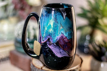 Load image into Gallery viewer, 48-A Rainbow Stellar Notched Mug, 14 oz