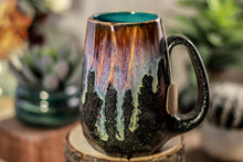 Load image into Gallery viewer, 02-D Electric Wave Notched Crystal Mug, 14 oz
