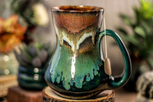 Load image into Gallery viewer, 14-B Copper Agate Flared Notched Mug - TOP SHELF, 19 oz.