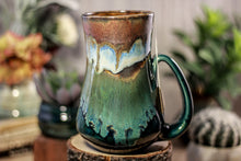 Load image into Gallery viewer, 15-B Copper Agate Barely Flared Notched Mug - TOP SHELF MISFIT, 20 oz.