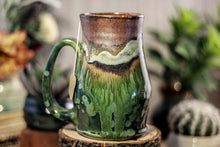 Load image into Gallery viewer, 16-B Copper Agate Barely Flared Notched Mug -  MISFIT, 17 oz. - 15% off