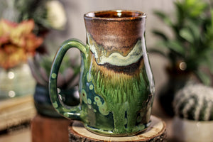 16-B Copper Agate Barely Flared Notched Mug -  MISFIT, 17 oz. - 15% off