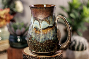 17-B Copper Agate Barely Flared Notched Mug -  MISFIT, 17 oz. - 10% off