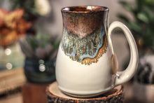 Load image into Gallery viewer, 19-B Copper Agate Barely Flared Notched Mug, 14 oz.