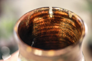 19-B Copper Agate Barely Flared Notched Mug, 14 oz.