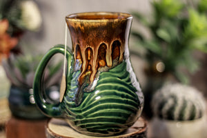 25-D Molten Falls Barely Flared Notched Textured Mug, 15 oz.