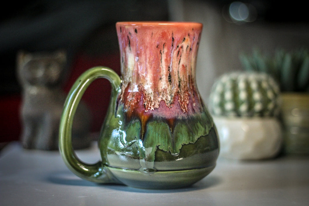 01-A Coral Mountain Meadow Barely Flared Acorn Mug - TOP SHELF, 22 oz.