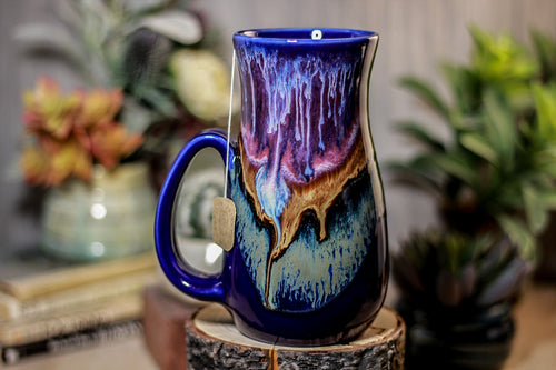 02-A PROTOTYPE Baja Sunset Barely Flared Notched Mug - TOP SHELF +, 18 oz.