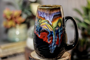 14-A New Earth Notched Textured Mug, 18 oz.