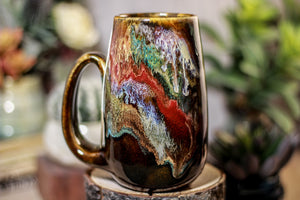 27-B Rainbow Grotto Notched Mug, 15 oz