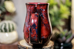 45-B Dragon's Blood Agate Barely Flared Notched  Mug, 16 oz.