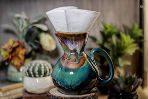 06-P New Earth Pour Over Pitcher, 17 oz.