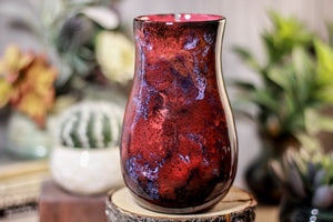 34-B Dragon's Blood Agate Barely Flared Notched  Mug, 18 oz.