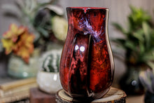 Load image into Gallery viewer, 34-B Dragon's Blood Agate Barely Flared Notched  Mug, 18 oz.