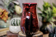 Load image into Gallery viewer, 35-B Dragon's Blood Agate Barely Flared Notched  Mug, 18 oz.