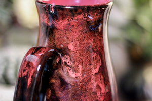 35-B Dragon's Blood Agate Barely Flared Notched  Mug, 18 oz.