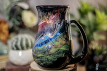Load image into Gallery viewer, 43-A Cosmic Grotto Barely Flared Notched Mug - TOP SHELF MISFIT, 17 oz