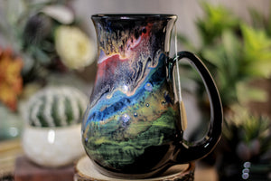 43-A Cosmic Grotto Barely Flared Notched Mug - TOP SHELF MISFIT, 17 oz