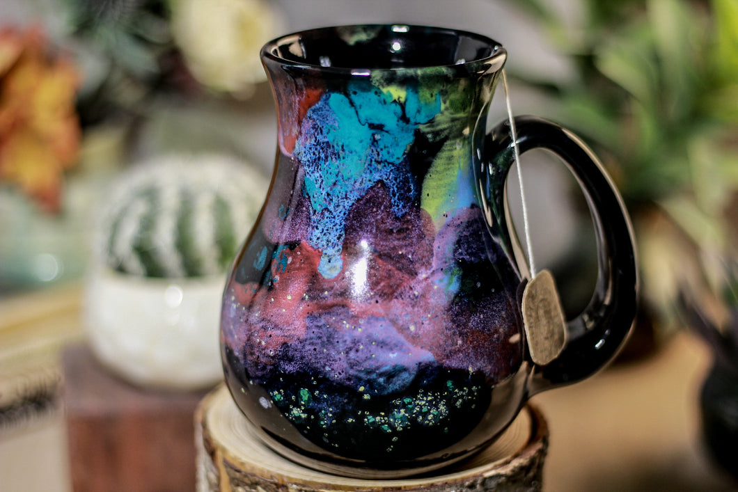 51-A Rainbow Stellar Barely Flared Notched Mug,  19 oz