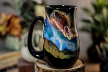 Load image into Gallery viewer, 01-P Cosmic Grotto Variation Barely  Flared Notched Mug, 14 oz.