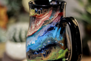 01-P Cosmic Grotto Variation Barely  Flared Notched Mug, 14 oz.