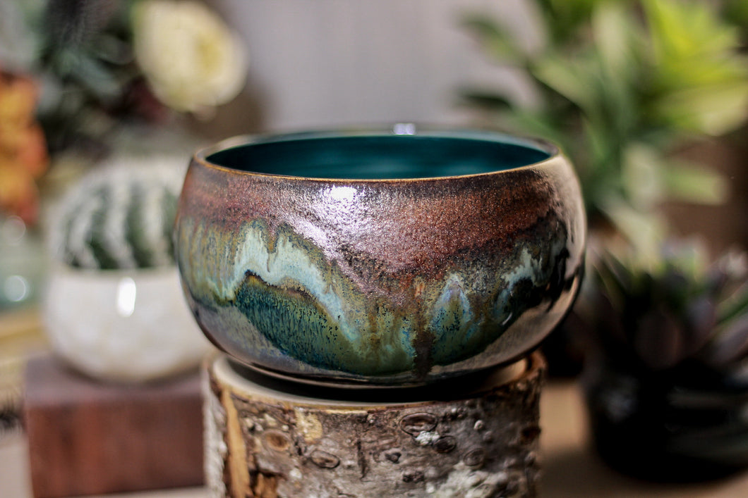 05-P Copper Agate Bowl, 19 oz