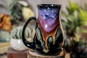 01-A PROTOTYPE Starry Night Barely Flared Notched Mug - TOP SHELF, 18 oz.
