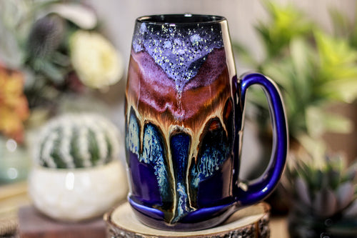 02-A PROTOTYPE Starry Night Notched Acorn Mug - TOP SHELF MISFIT, 16 oz.