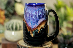 34-B Baja Twilight Notched Textured Acorn Mug, 15 oz.