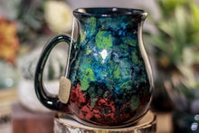 Load image into Gallery viewer, 42-B Chrysocolla Barely Flared Notched Mug, 20 oz.