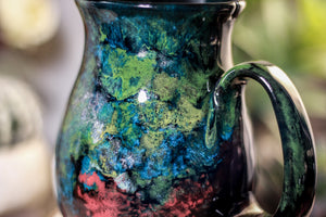 42-B Chrysocolla Barely Flared Notched Mug, 20 oz.