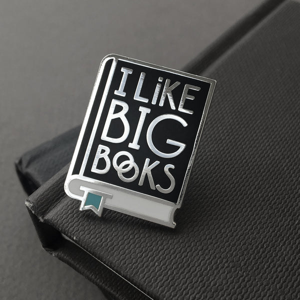 I Like Big Books enamel pin by Rather Keen