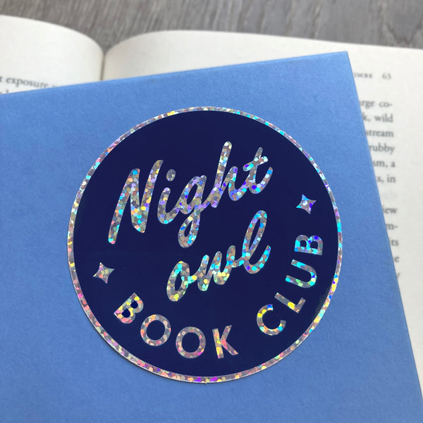 Night Owl Book Club sticker by Rather Keen