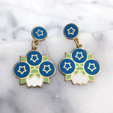Blueberry geometric earrings by Rather Keen