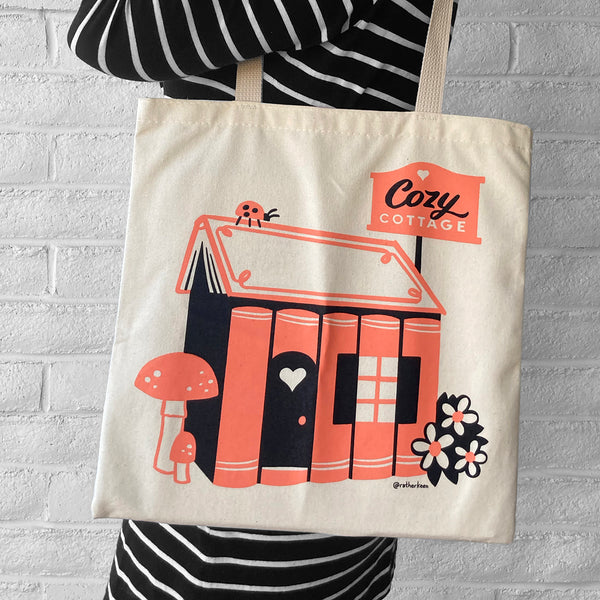 Book Cottage tote bag