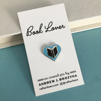 Book Lover enamel pin - book lover gifts