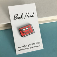 Book Nerd enamel pin - a smart gift for book lovers