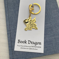 Book Dragon keychain
