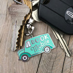 Bookmobile keychain - purse charm
