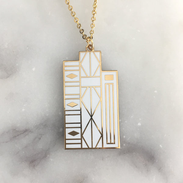 Geometric Books pendant by Rather Keen
