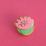 Parodia Herzogii cactus enamel pin by Rather Keen.