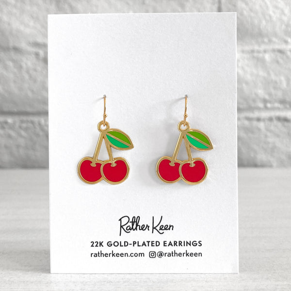 Cherry Earrings by Rather Keen.