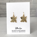 Book Dragon earrings