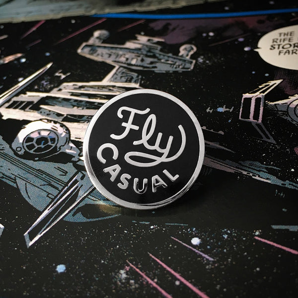 han solo quote enamel pin