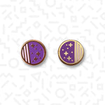 1980s Galaxy stud earrings - Memphis Style
