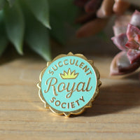 Royal Succulent Society enamel pin
