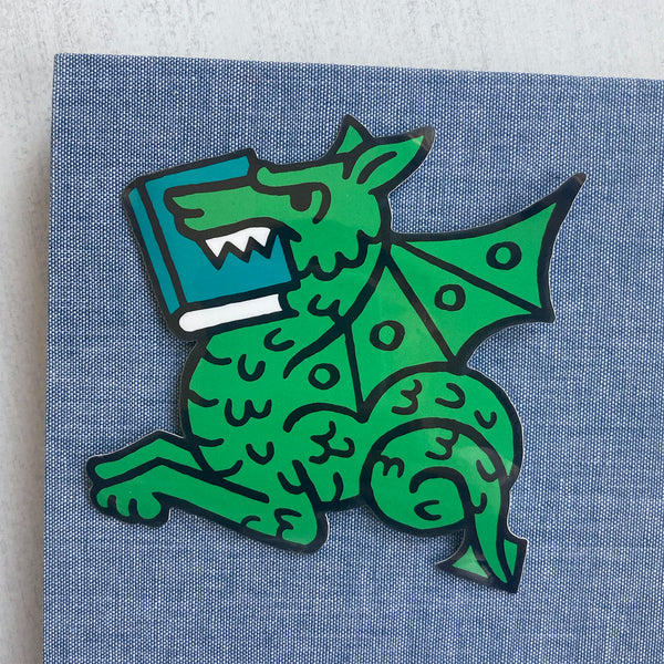 Book Dragon vinyl sticker