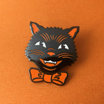 Retro Halloween Cat enamel pin by Rather Keen