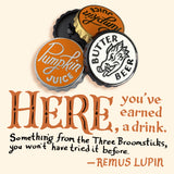 Harry Potter bottle cap pins (and hand-lettering) by Rather Keen